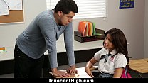InnocentHigh - Ava Mendes Fucks Her Teacher For An A