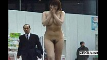 Subtitled Japanese authentic public nudity in Tokyo pornhub video