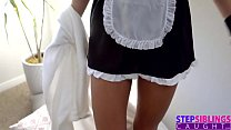 Step Sister Preforms Maid Service On Brothers Cock S6:e7
