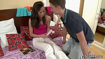 Bro Seduce Petite Virgin Step-Sister to Ass Fuc...