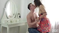 Newcomer Luxury Teen enjoys 1st time Balls Deep...