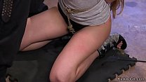 Babe in crotch rope made suck huge dick