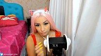 Cosplay Girl Franxx Anime ASMR 3DIO Big boobs Teasing queen, Gostosa safadinha fazendo-te gozar muito VIDEO DE ASMR Preview