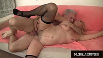 Mature Blonde Cristine Ruby Takes a Hardcore Po... Thumbnail