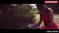 LETSDOEIT - Horny Teens Play With Their Sweet Cunts in The Forest Vorschaubild