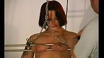 Breast slavery leads to severe torture moments on live cam video