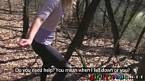 Girlfriends eat pussy and make a sextape in the woods thumbnail