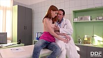 Horny Redhead Linda Sweet hardcore ass fucked on the examination table Preview