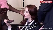 LETSDOEIT - American Exchange Student Anna De Ville Gets Double Penetrated On Her First Day