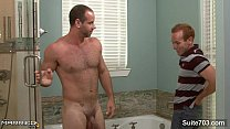 Married guy gets fucked by a gay in bathroom