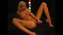 Pretty Blonde  Babe Dances  Takes Off Her Cloth