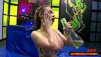 Busty babe Chessie Kay Pissing Gangbang - 666Bukkake thumbnail