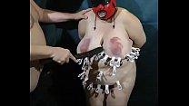 08-Oct-2014 Clips On - Smack Clips Off (Sklavin/slave) tit torture