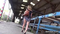 Unfaithful british milf gill ellis pops out her monster puppies
