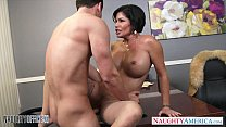 Sexy brunette milf Shay Fox gives head thumb
