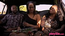 Black amateur couple eager to try a threesome with a friend