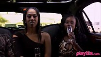 Black amateur couple eager to try a threesome w...