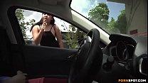 Flash dick to a girl on car thumbnail