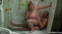 Screenshot Big Woman Rides  Cock In The Shower ower