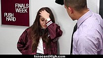 InnocentHigh - SchoolGirl Natalie Monroe Fucks Her Teacher! pornhub video