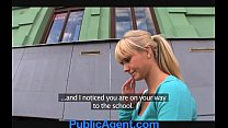 PublicAgent Beautiful blonde fucks me in my car preview image