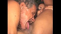 7719 Brunette is getting grandpa cock preview