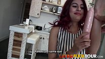 Latina Redhead Gets Pussy and Ass Stretched Vorschaubild