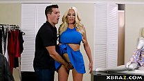 Curvy mannequin doll comes to life in a clothin...