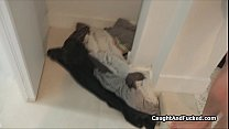Bikini teen blows plumber for fixing pipes Preview