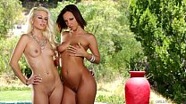 tubdy - Big Ass Jada Stevens and Jessie Volt Try Anal thumbnail