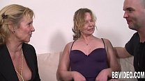 Slutty german milfs sharing cock