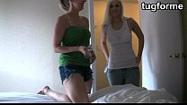 Sister and blond busting you jacking off JO ins...