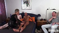 German granny fuck two dicks thumbnail