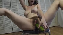 Hairy amateur from 69webcam.net toying with cucumber pornhub video