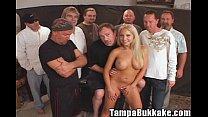 Jasmine Tame Comes by for a Tampa Bukkake Gang Bang Party