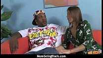 Cougar with Big Tits Seduces Young Black Guy 17