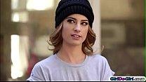 Chloe Couture invites runaway Kristen Scott in and licks her