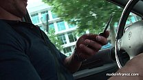 Amateur redhead hard anal fucked and fisted by the taxi driver outdoor thumbnail