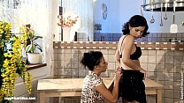 Kitchen Excitement by Sapphic Erotica - sensual lesbian sex scene with Hailee an