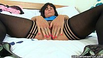 British milfs Lelani and Leia masturbate in stockings Image