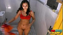 indian amateur couple sonia and sunny hardcore sex in shower preview image