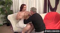 Busty BBW Lady Lynn Blows and Tit Fucks a Guy and Then Screws Him