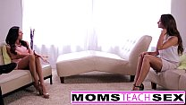 Mom seduces son in hard fast fuck lessons thumbnail