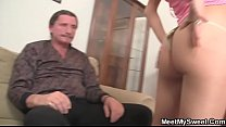 She seduces his father to sex and his mom joins them Preview