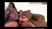 black girl riding her man