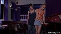 His Mom Teaching Teen Gf Some Lesbian Tricks