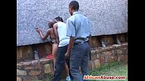 African girl bonded and abused by black guy wit... Thumbnail