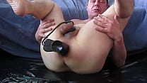 Poppersmask: prostate milking and cum