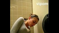 Public toilet masturbation and orgasm