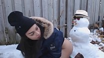 Teen gets fucked by snowman-tinacams.com